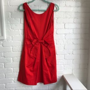 Kate Spade Bright Red Holiday Cocktail Bow Dress 4